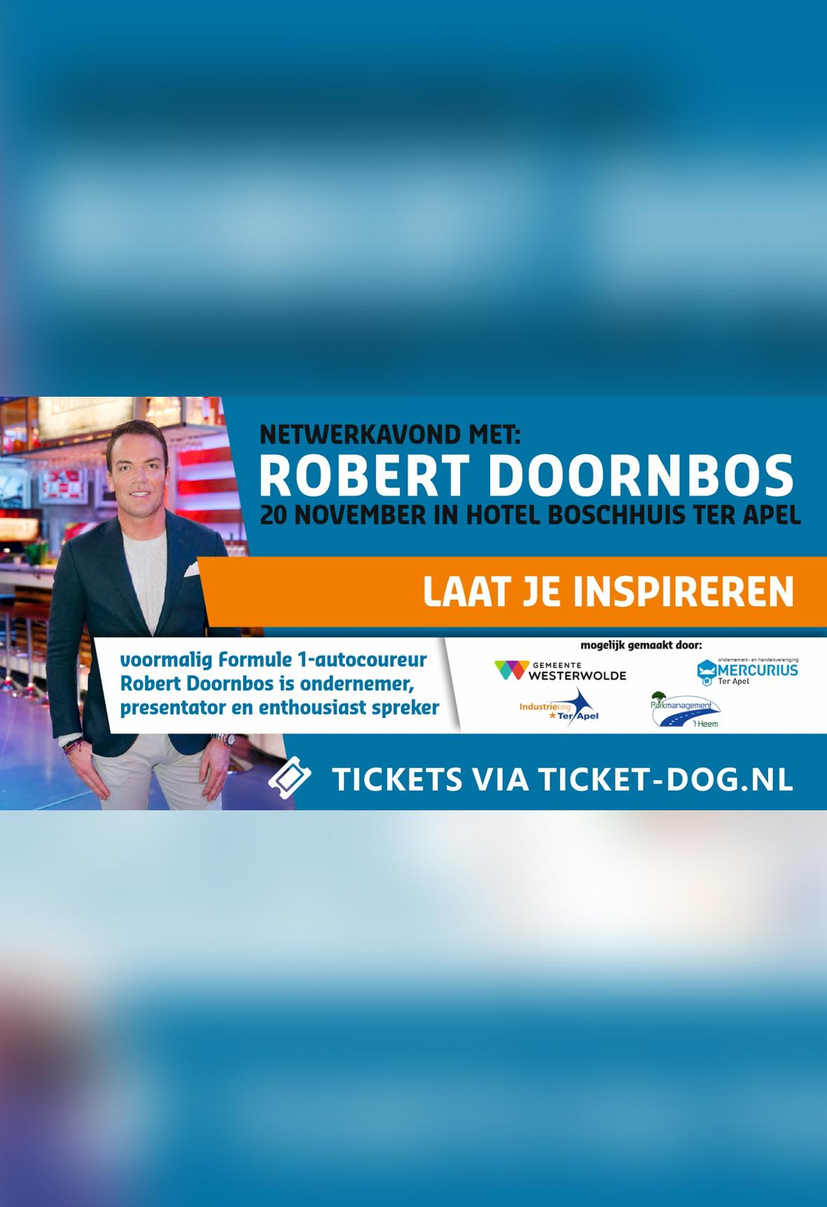 Netwerkavond met Robert Doornbos (VANAF 23-10-2019 BESCHIKBAAR)